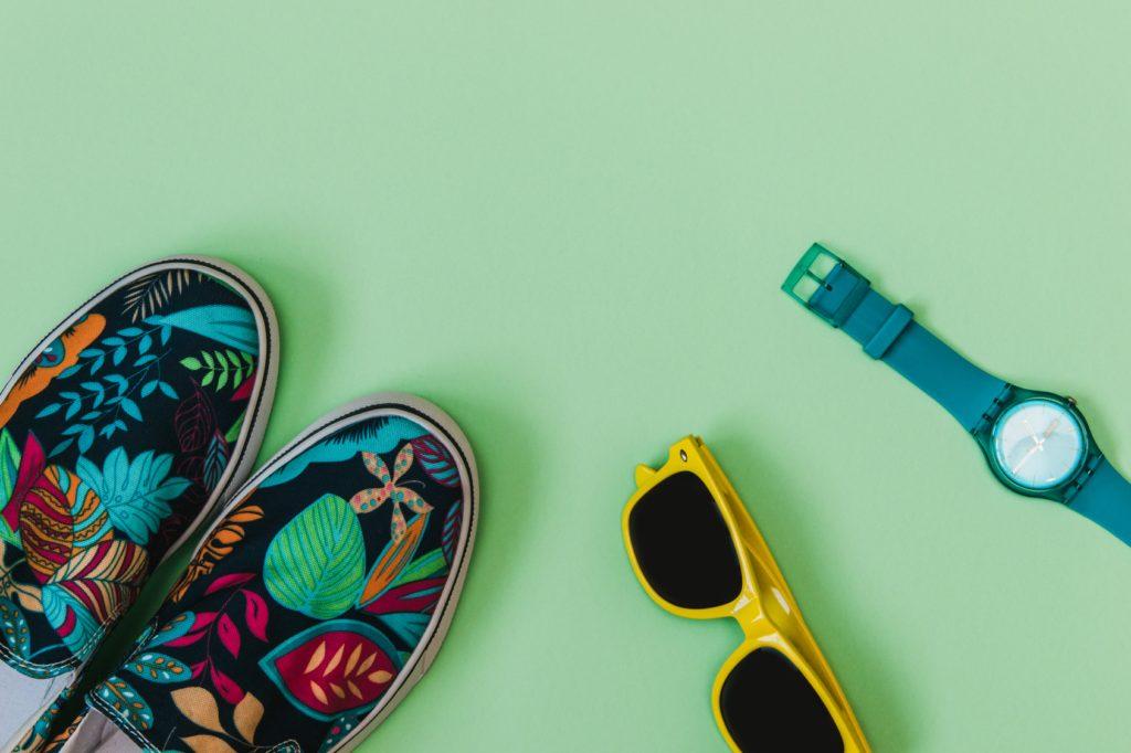 Buty z kwiatowym printem