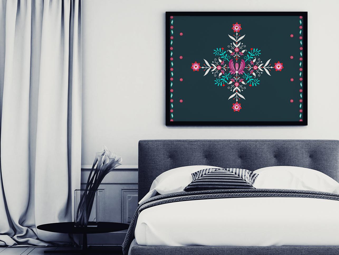 Plakat na ścianie - kolorowy wzór