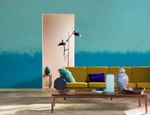 Salon - ściana - dwa kolory