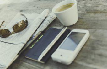 Espresso, telefon i gazeta