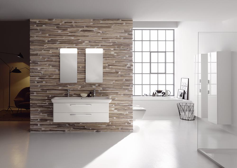 Elegancka łazienka w stylu wabi-sabi