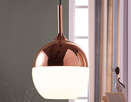 Miedziana lampa wiszącaMiedziana lampa wisząca