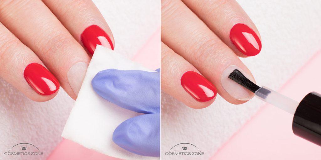 Oczyszczenie płytki paznokcia