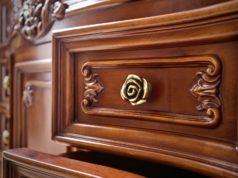 Pięknie zdobiona szuflada