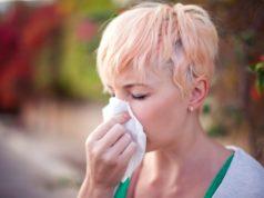 Kobieta z alergią