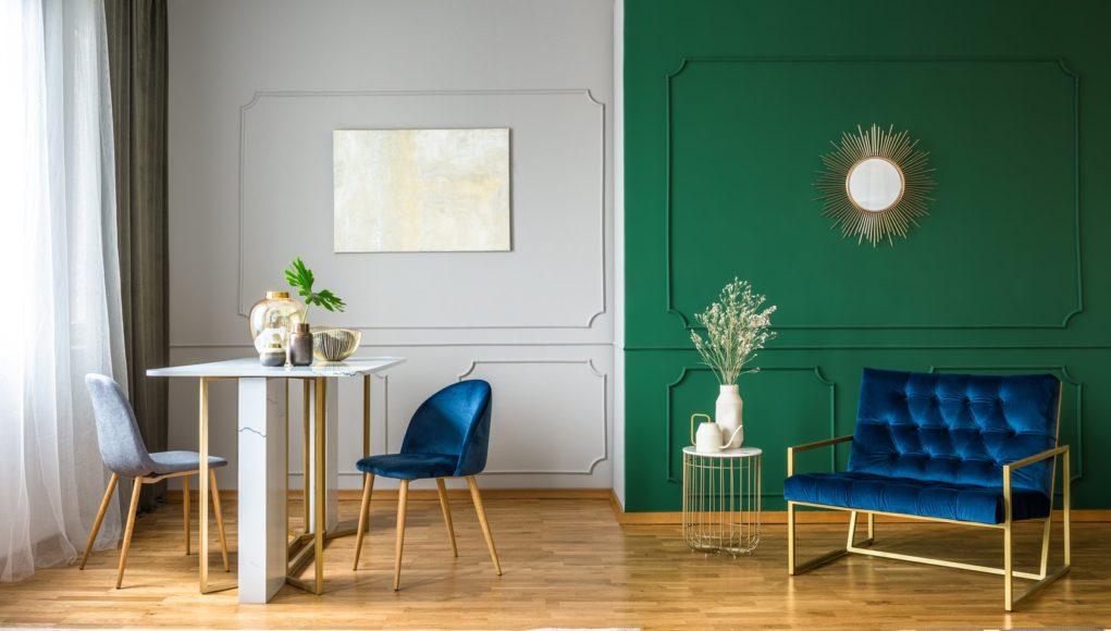 krzesła tapicerowane w salonie