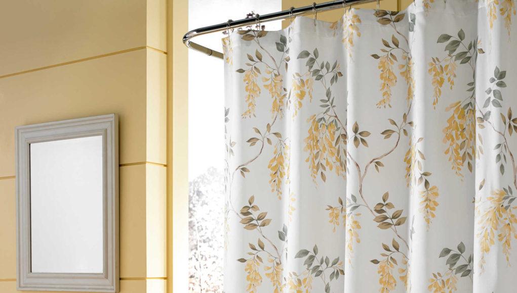 Łazienka z zasłoną prysznicową