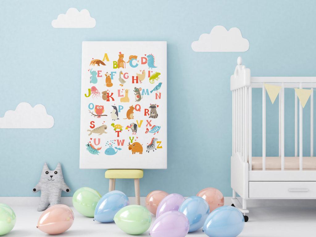 Obraz z napisem do pokoju dziecięcego