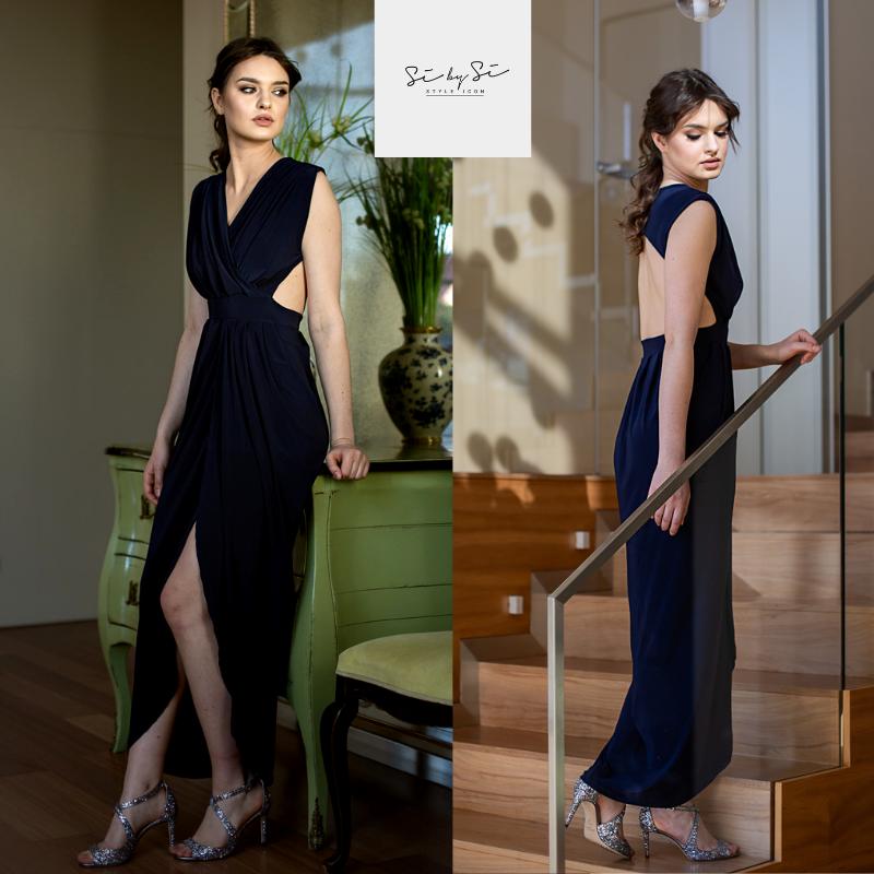 Długa sukienka - odkryte plecy
