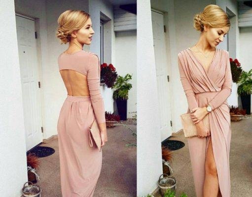 Sukienka z odkrytymi plecami