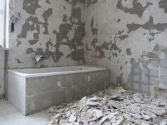 Usunięta glazura z łazienki