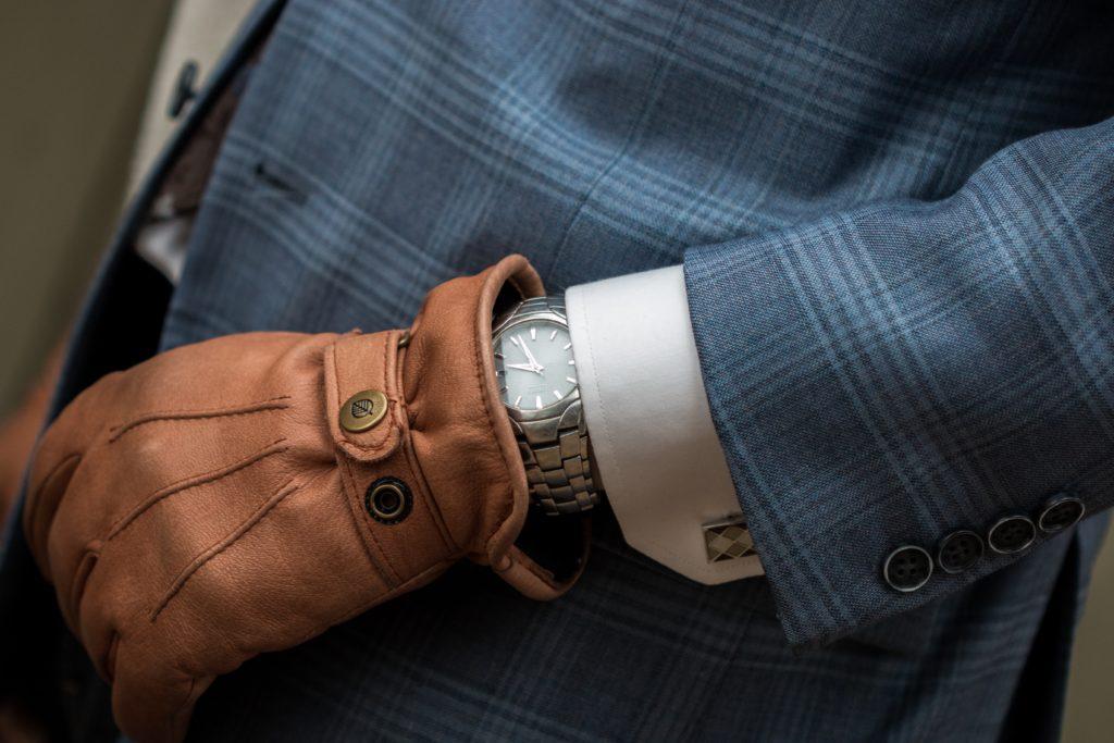 Rękawiczki skórzane do obsługi smartfona