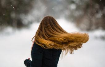 Piękne włosy zimą