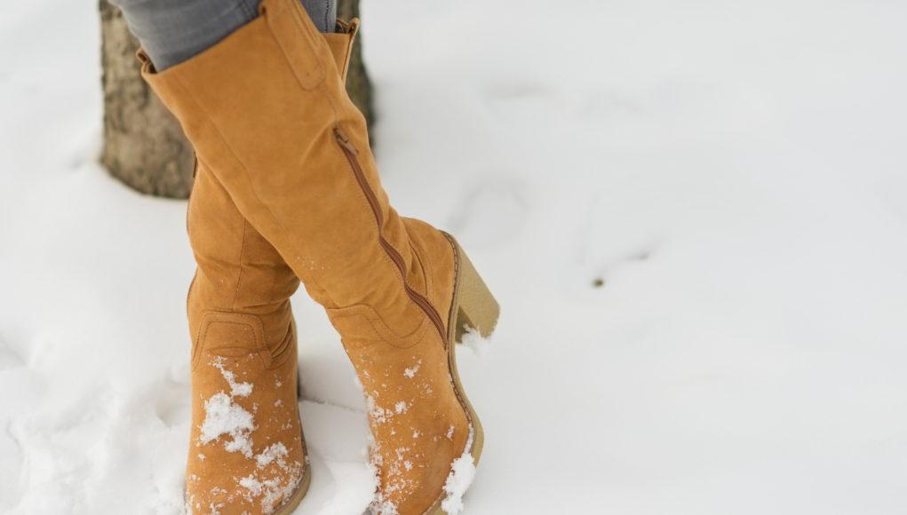 kobiece kozaki pomarańczowe na zimę