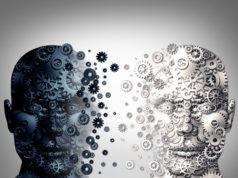 dwie głowy animacja czarna i biała