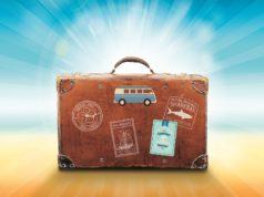 walizka w stylu retro