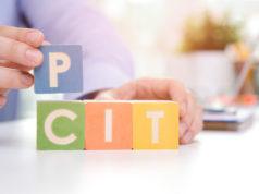 napis PIT i CIT ułożony z klocków