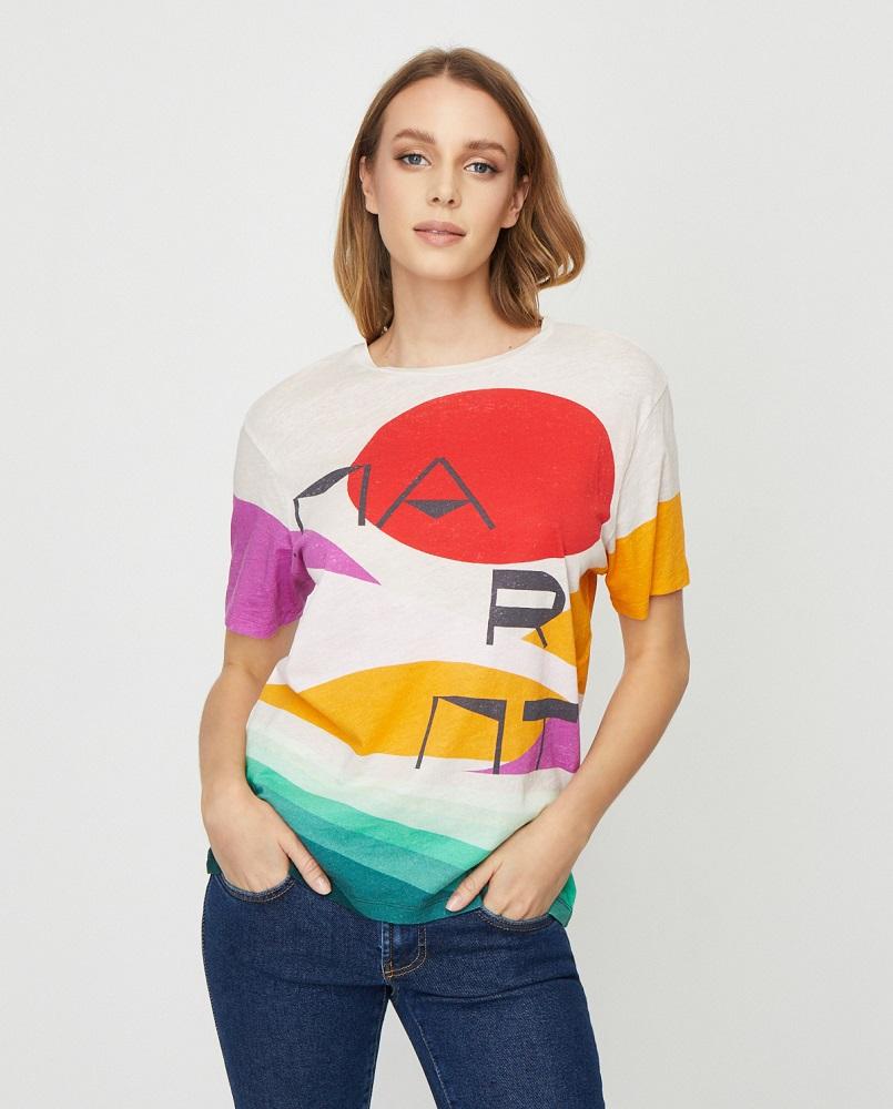 Koszulka z kolorowym nadrukiem Zewel
