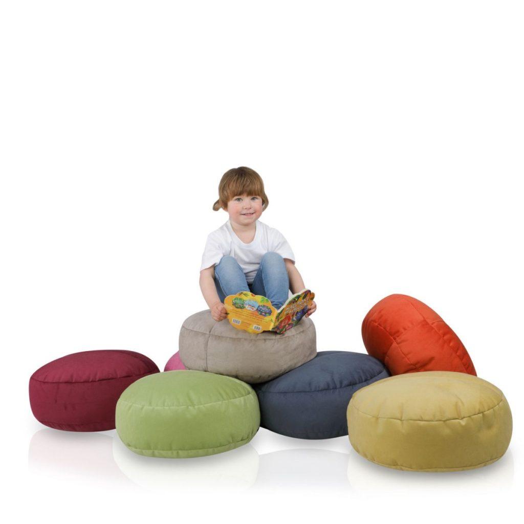 małe pufy do pokoju dziecięcego
