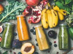 kolorowe smoothies warzywno owocowe