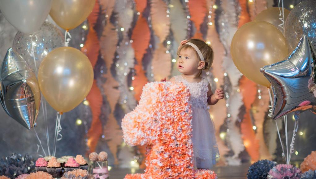 dekoracje urodzinowe 1 urodziny dziewczynki