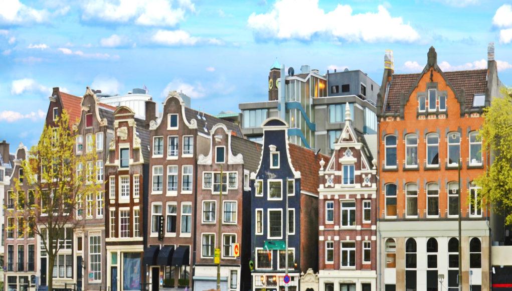 Amsterdam kamienice mieszczańskie z XVII i XVIII wieku