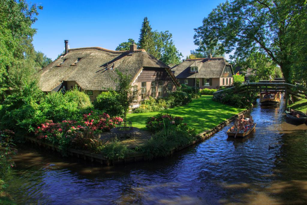 Giethoorn wieś, która jest nazywana Wenecją Północy