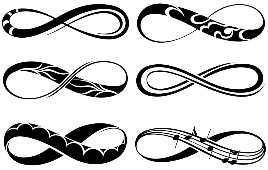 Znak nieskończoności tatuaż wzór