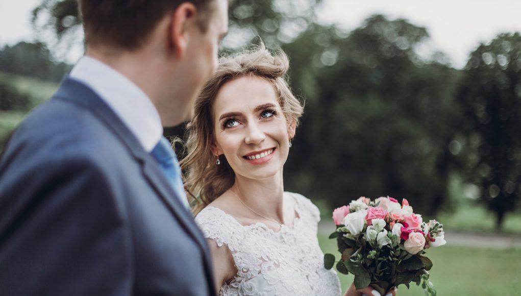 romantyczna sesja ślubna w plenerze